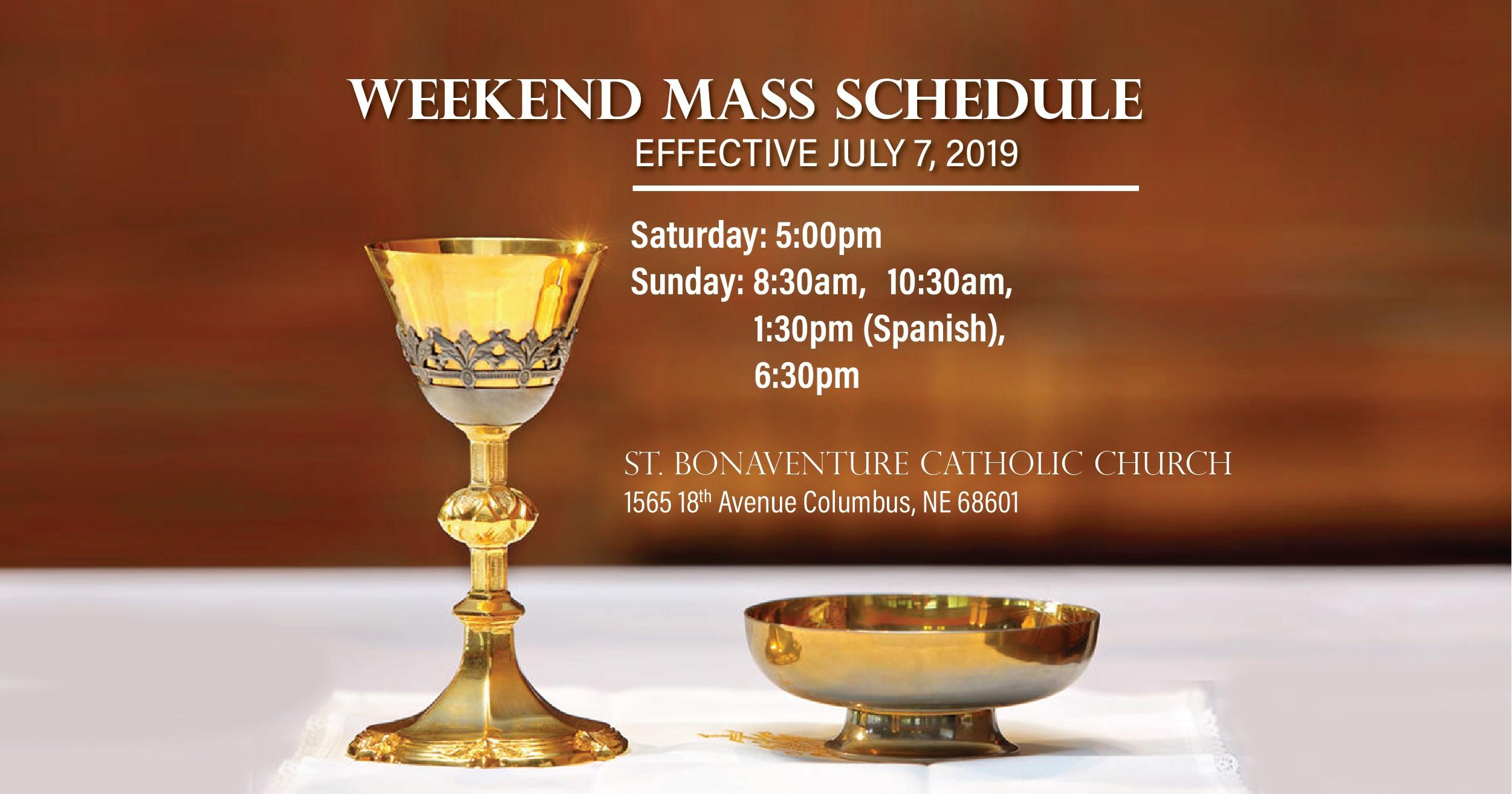 Parish Bulletins - Saint Bonaventure Catholic Church