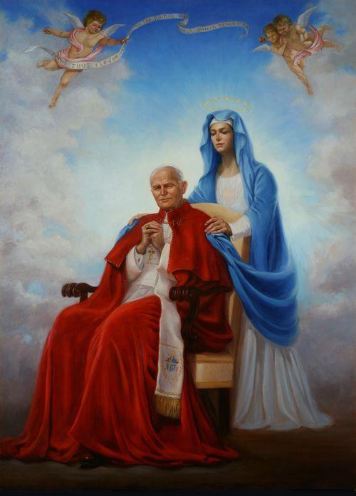 Pope st john paul ii mary